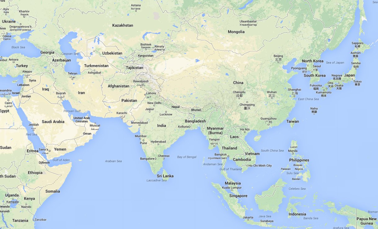 Map Of Asia Dubai.Google Reveals What People Really Think About Europe And Asia Huffpost