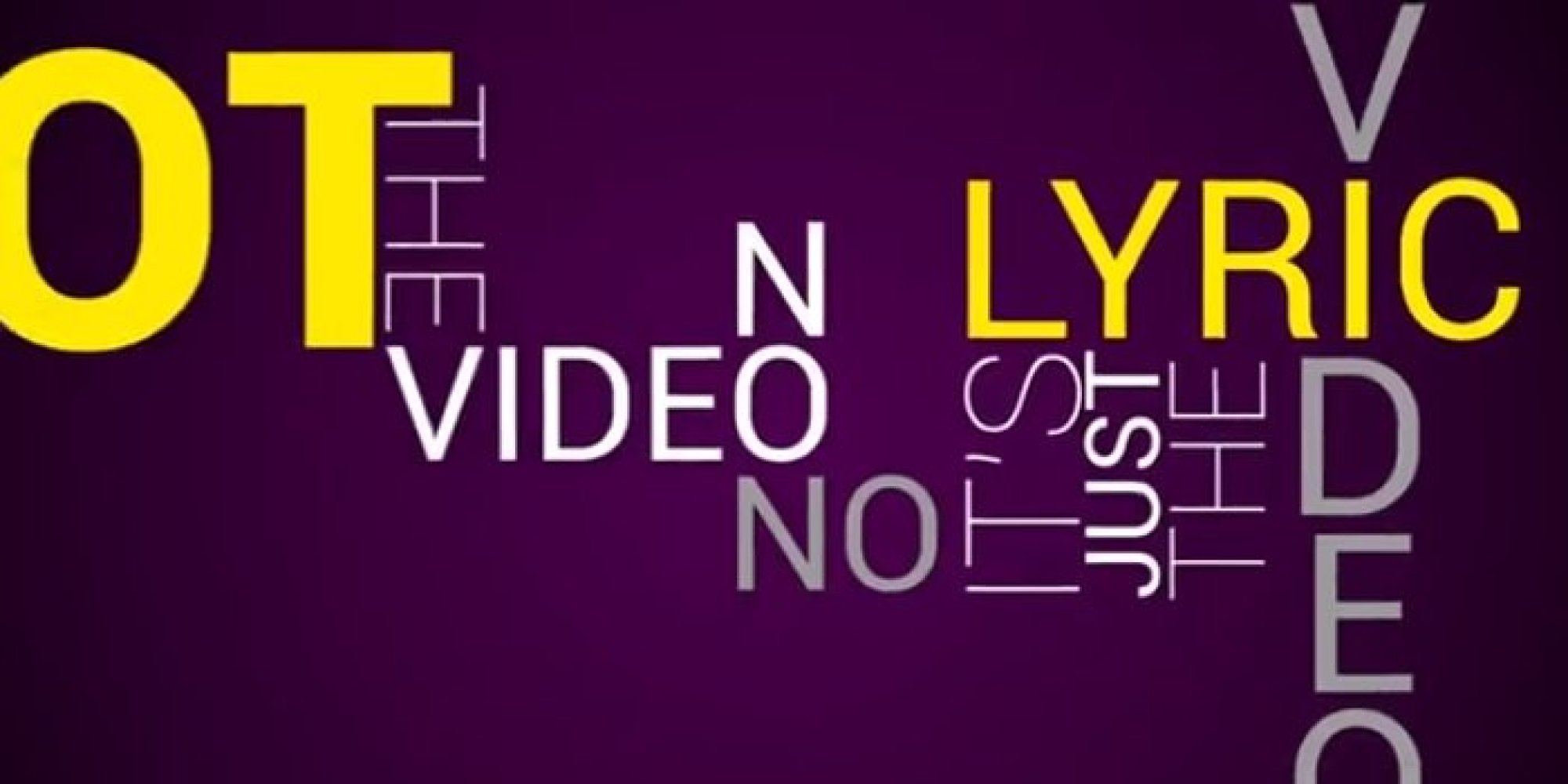 Those Annoying Official Lyric Videos Get An Official Lyric ...