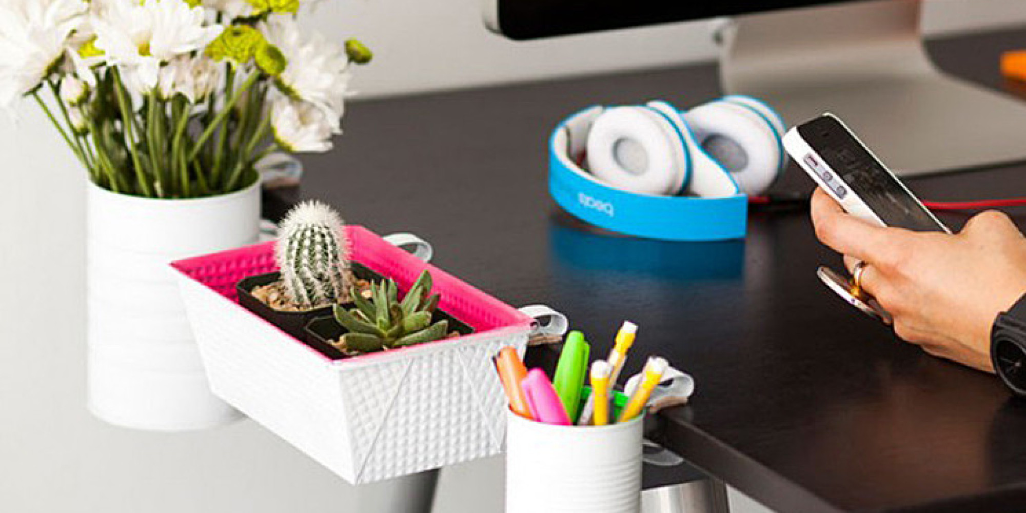 7 Gorgeous Diy Desk Organizers Huffpost