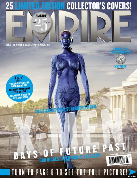 jennifer lawrence  sc 1 st  HuffPost & Jennifer Lawrence Appears As Nearly Naked Mystique On Empire ...