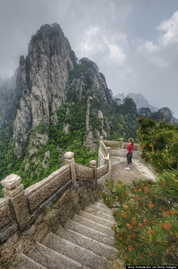 huangshan stairs china