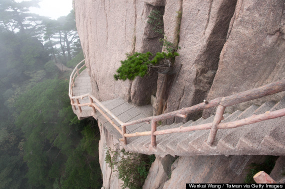 huangshan steps china