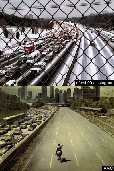 atlanta snowstorm walking dead