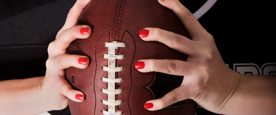 FOOTBALL WOMAN HANDS