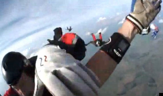 skydiver knocked unconscious
