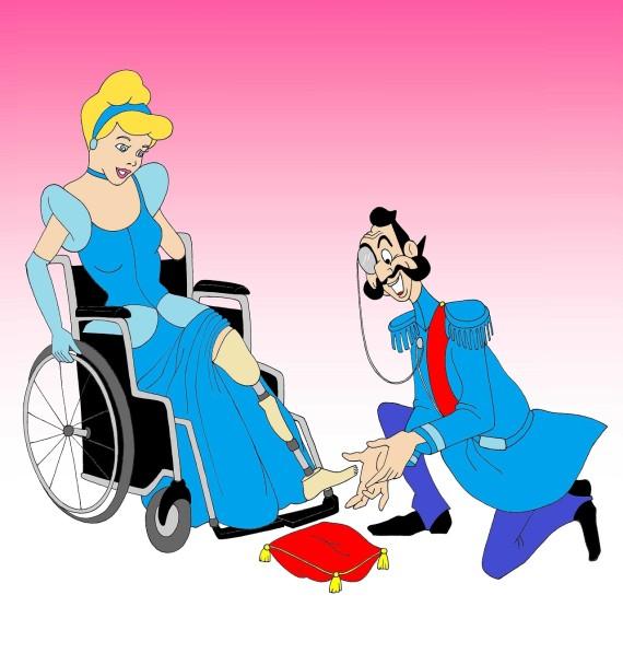 cinderela cadeira de rodas