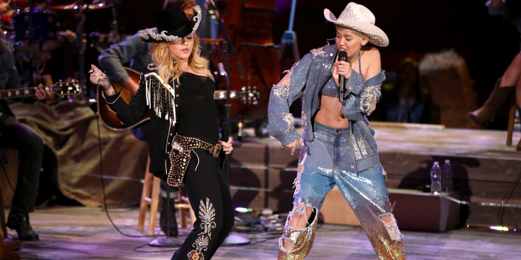 Watch Miley Cyrus And Madonna S Mtv Unplugged Mashup Of