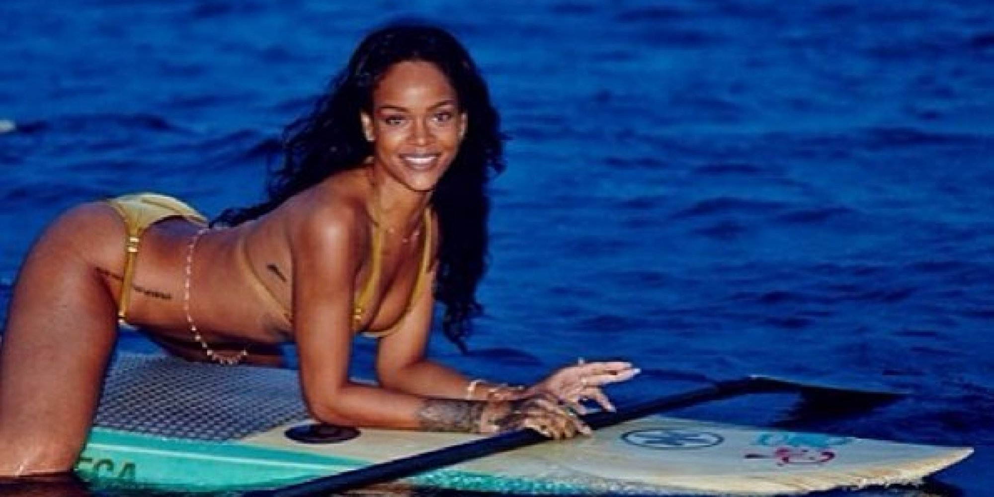 naked rihanna hot in beach