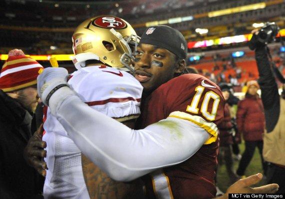 quarterbacks hug