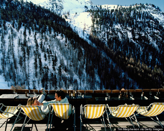 ski lodge porch
