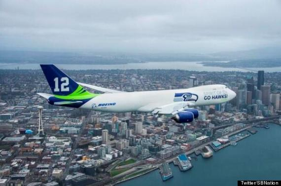 seahawks plane