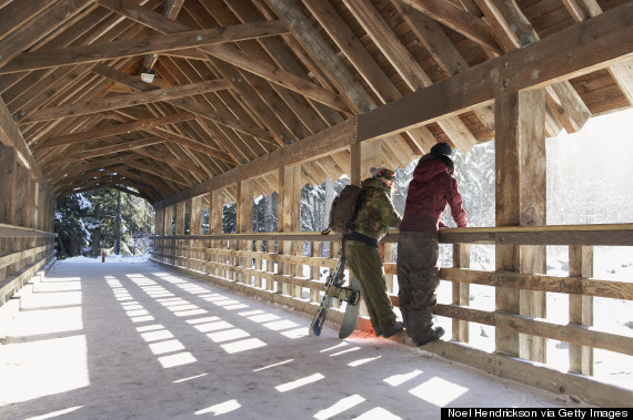 ski lodge ceiling