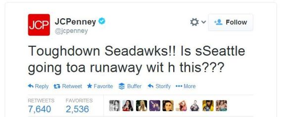 JC Penney Super Bowl Tweets