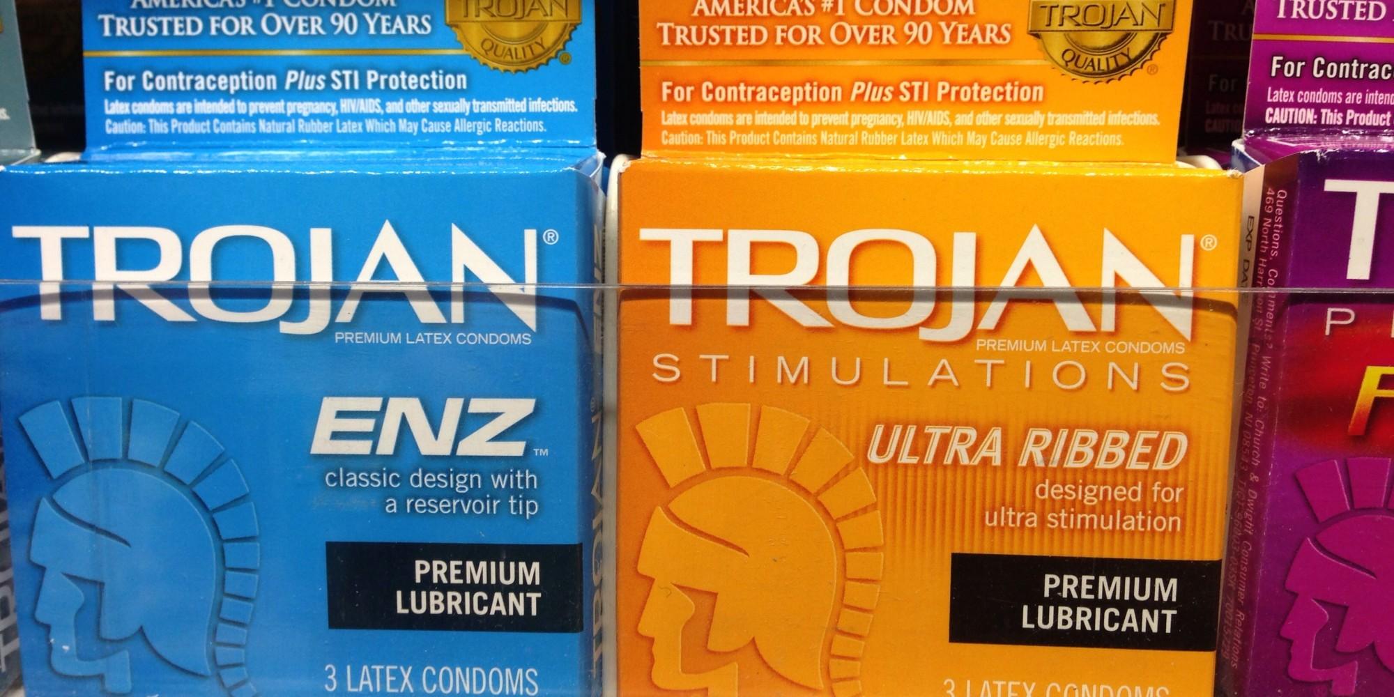 trojan condom add