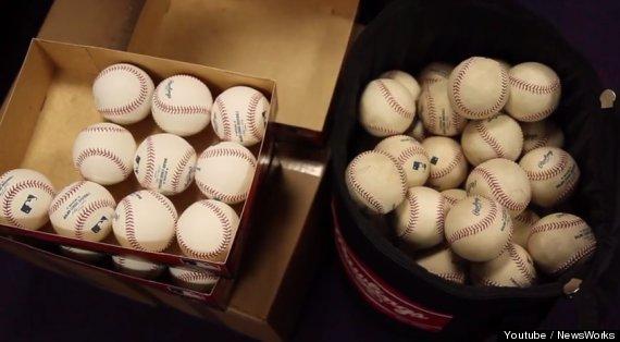 muddy baseballs