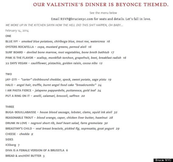 beyonce dinner