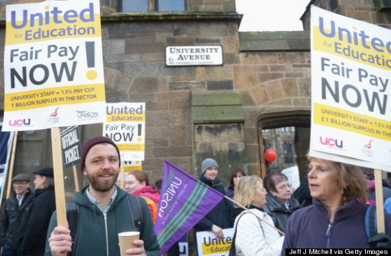 university staff strike