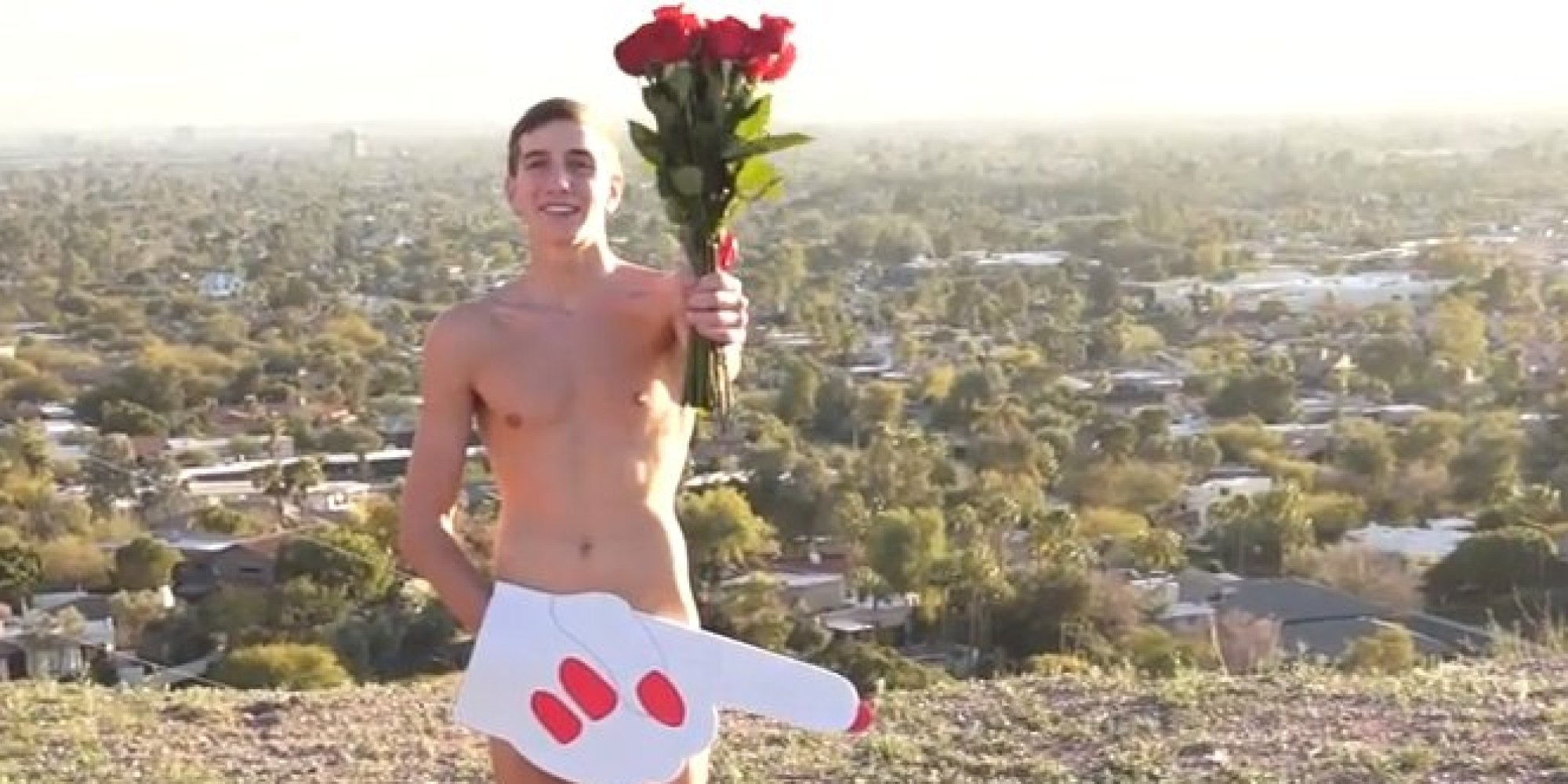 Teen Asks Miley Cyrus To Prom By Posing Naked With A Foam Finger (video)