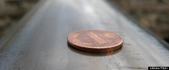 flattened penny