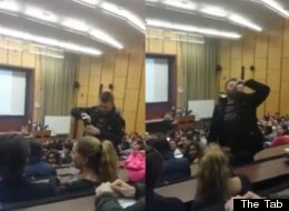 Student Performs Neknominate In Front Of Packed Lecture Theatre