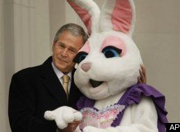 Bush Embraces The Easter Bunny