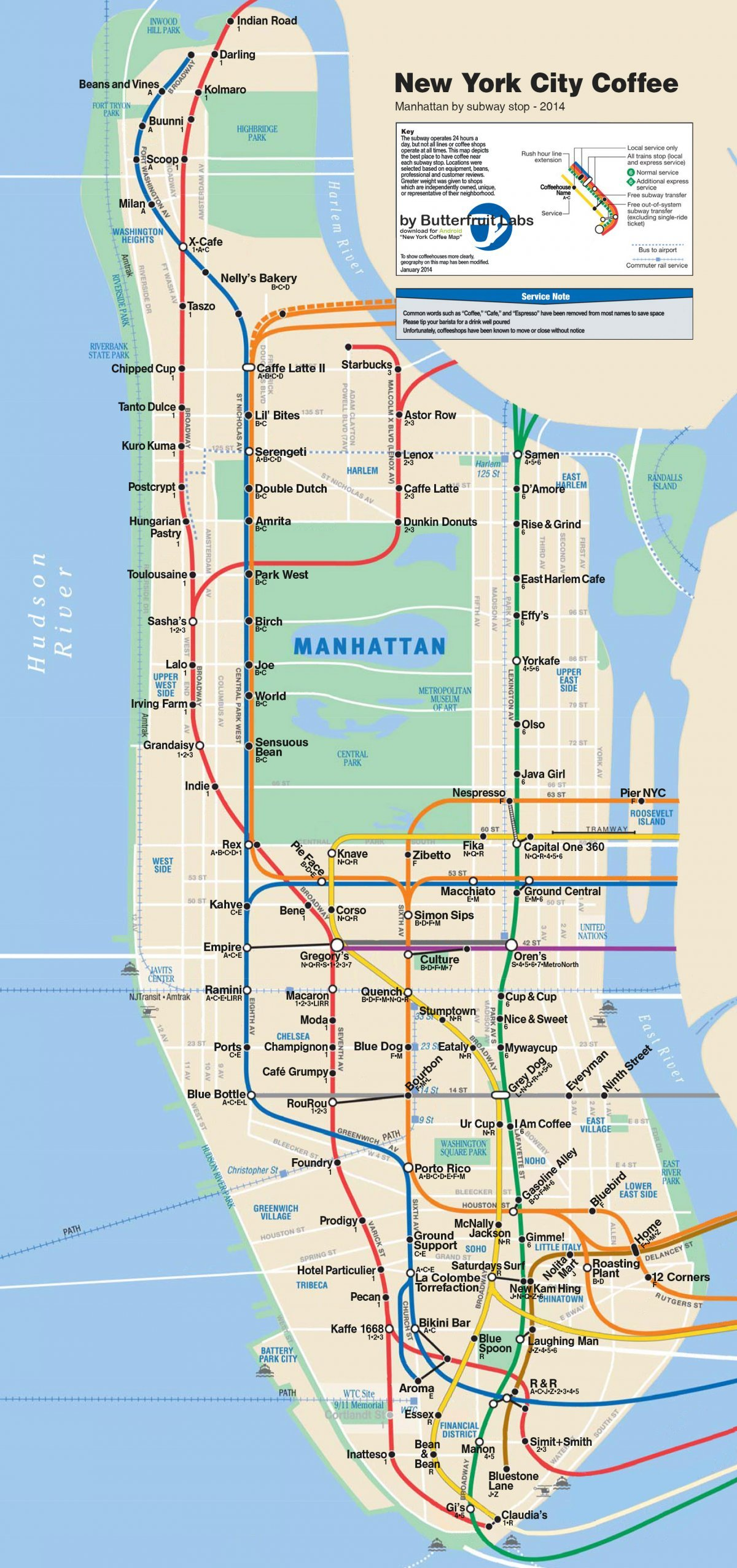Best Nyc Map App.The Map Every Nyc Coffee Addict Needs To Survive Huffpost