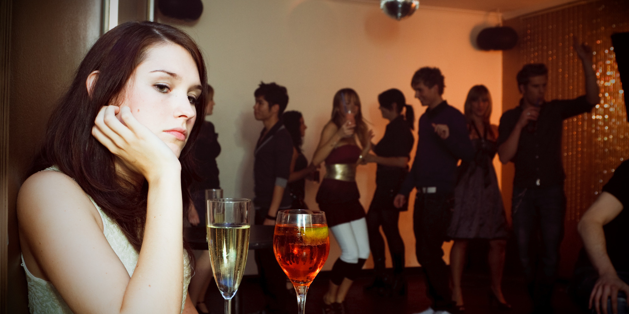 Image result for lonely guy at party