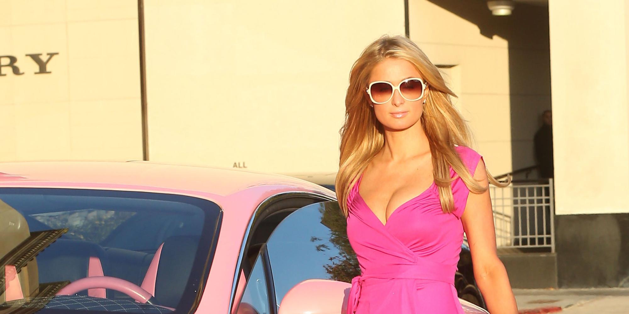Paris Hilton Channels Barbie In Her Pink Bentley Huffpost