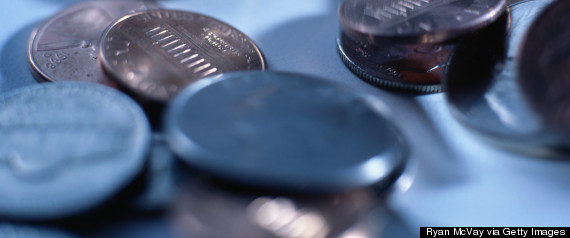 nickels and pennies