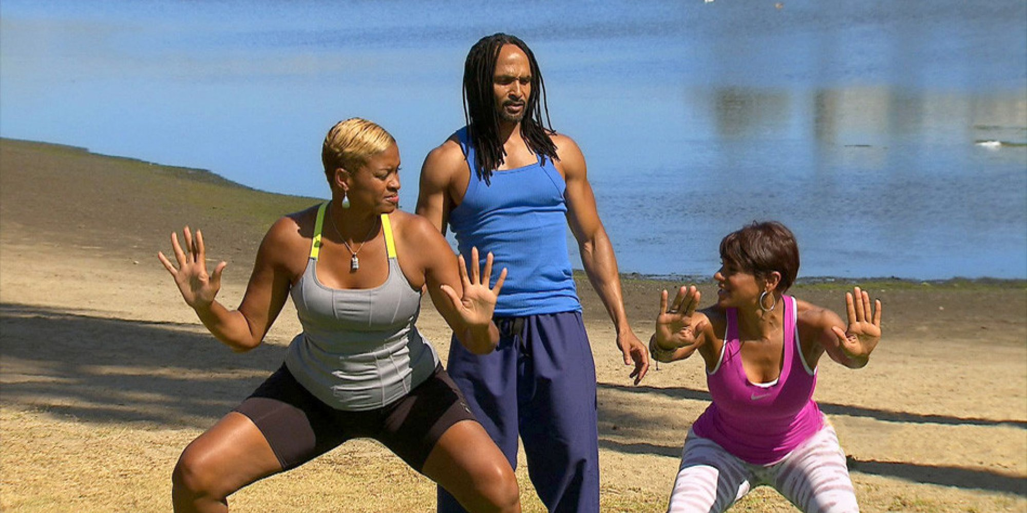Pam McGee Works Out With A Fitness Expert She Dubs 'Black Jesus