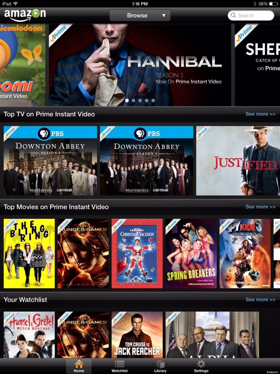amazon prime instant video ipad