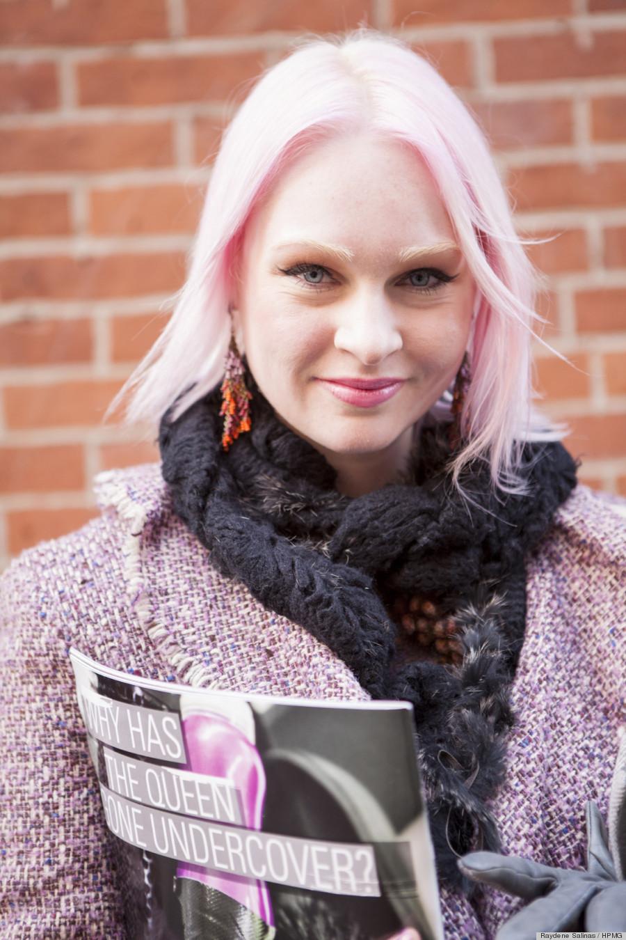 pink hair beauty nyfw