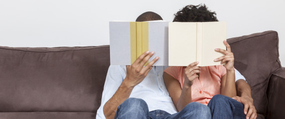 couple reading books together