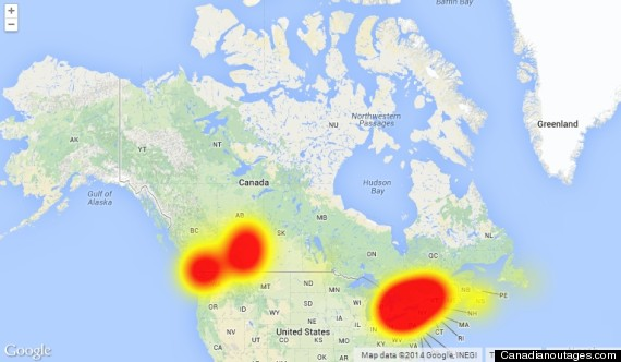 Telus Outage Hits Central Canada Alberta BC - Internet outage map of the us