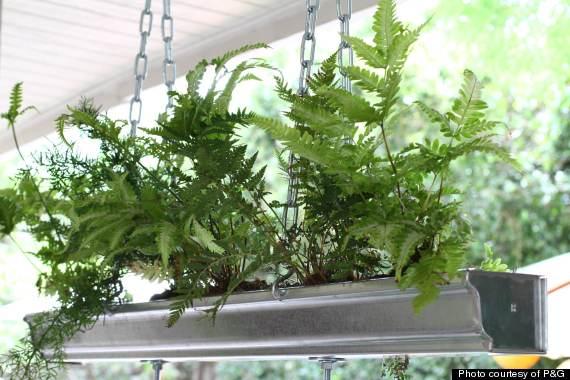 rain gutter planter diy hms