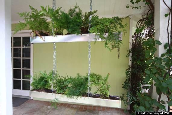 rain gutter planter diy hms vertical