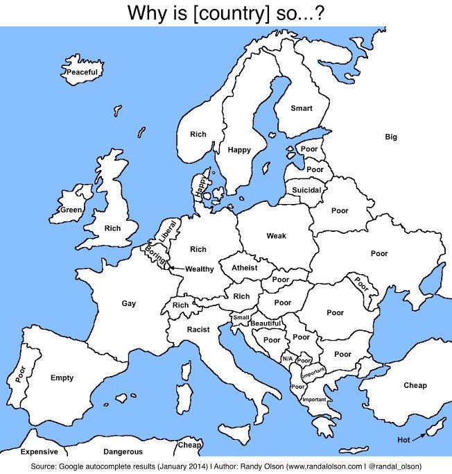 Mapa da Europa com autocomplete do Google