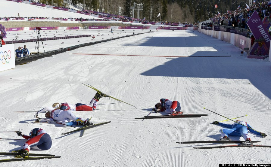 Nothing Says 'Exhaustion' Quite Like The Finish Line Of An ...