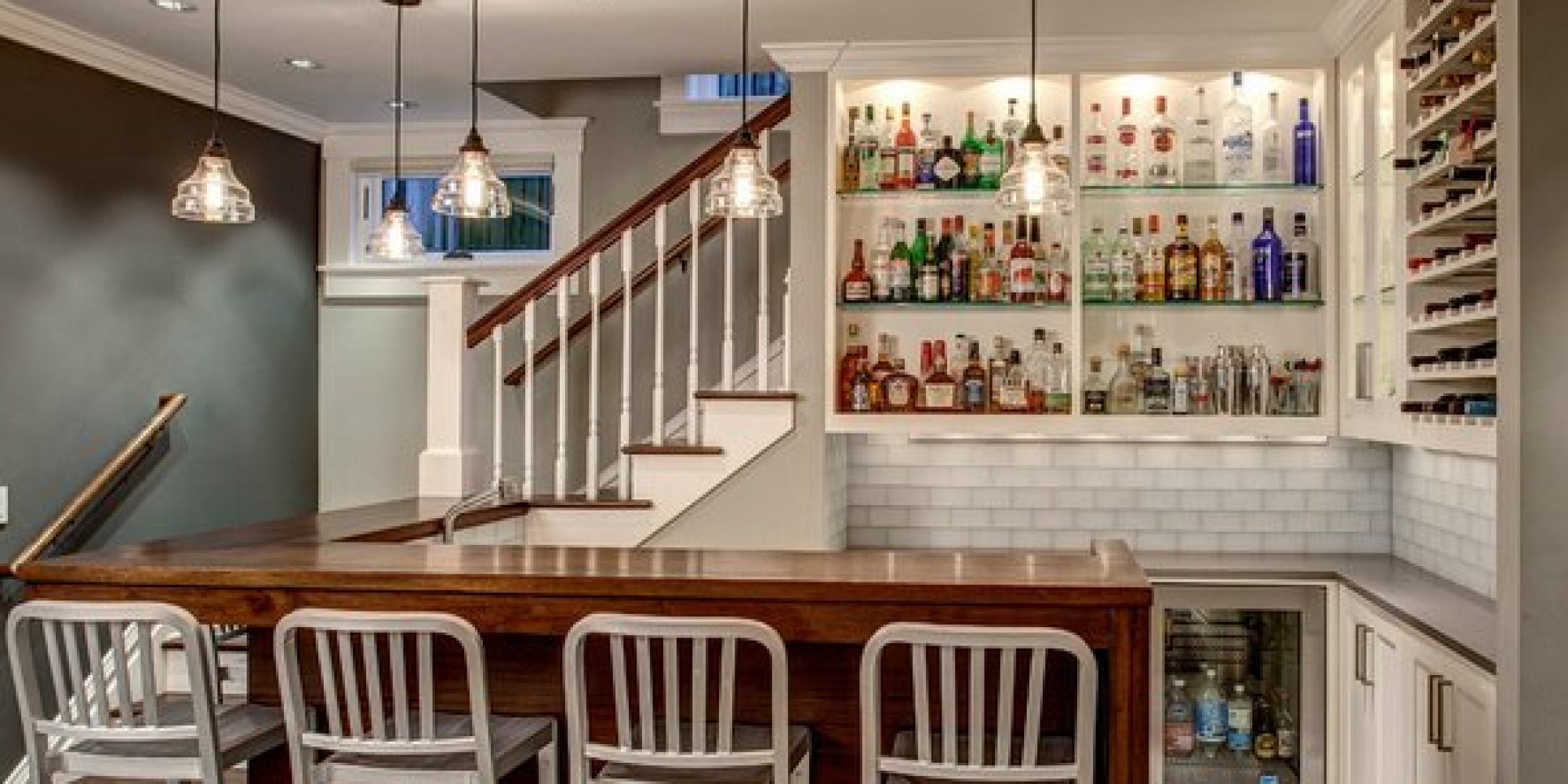 The 19 coolest things to do with a basement photos - Cool home bar ideas ...