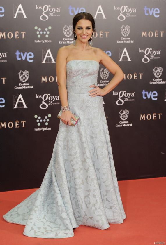 paula echevarria vestido goya 2014