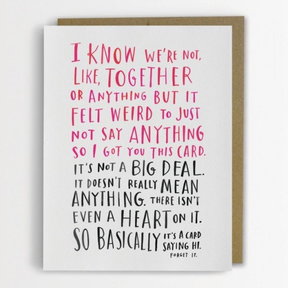 21 awkward valentine's day cards for your confusing modern, Ideas