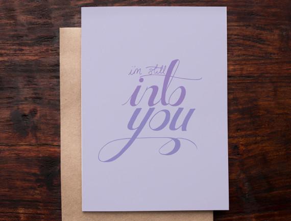vday card into you