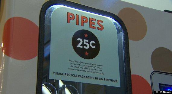 crack pipe vending machine
