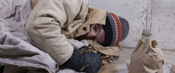 COLD HOMELESS PERSON