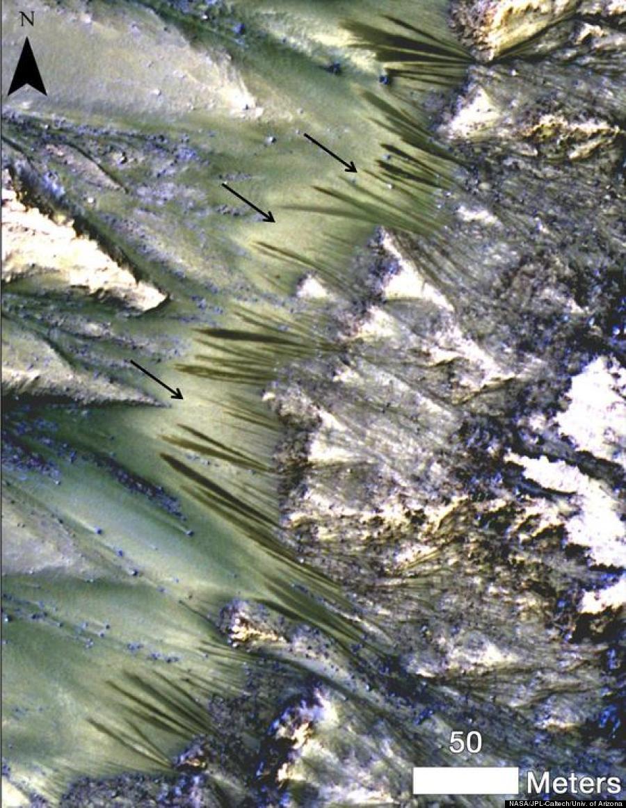 mars flowing water
