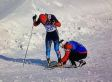 Justin Wadsworth, Canadian Coach, Helps Russian Skier Anton Gafarov With Broken Ski