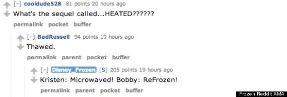 frozen reddit ama 2