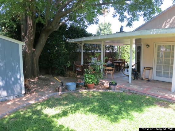 backyard patio before hms