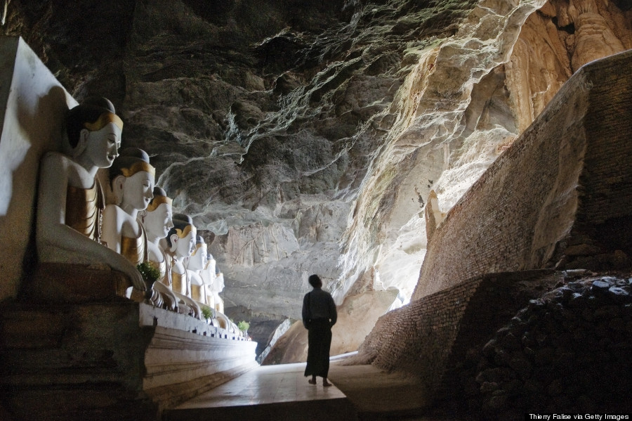 Buddhist Cave Temples Are Jaw-Droppingly Gorgeous O-MYANMAR-CAVE-900