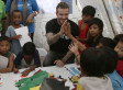 Beckham Brings Cheer To Children-Survivors In Phillipines (PICTURES)